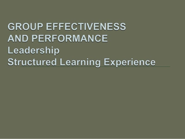 Definitions of team effectiveness abound and have been the subject of much debate. For example, groups are often evaluated...