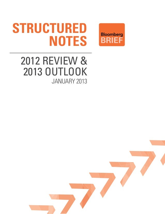 STRUCTURED     NOTES 2012 Review &  2013 outlook       January 2013