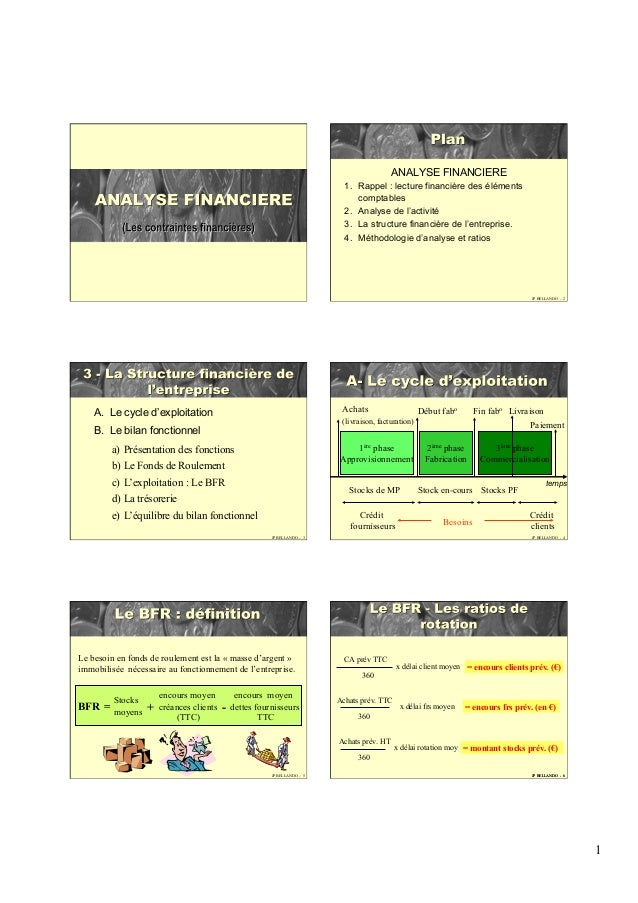 1 JP BELLANDO - 2 ANALYSE FINANCIERE 1. Rappel : lecture financière des éléments comptables 2. Analyse de l'activité 3....