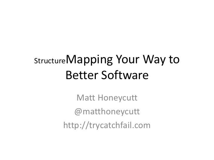 StructureMapping               Your Way to      Better Software        Matt Honeycutt        @matthoneycutt     http://try...
