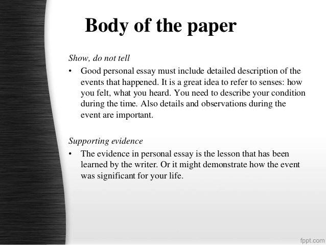 Good Personal Essays