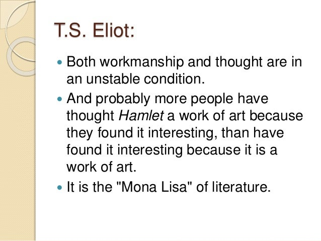 an analysis of the essay tradition and the individual talent by tseliot