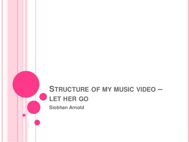 STRUCTURE OF MY MUSIC VIDEO – LET HER GO Siobhan Arnold