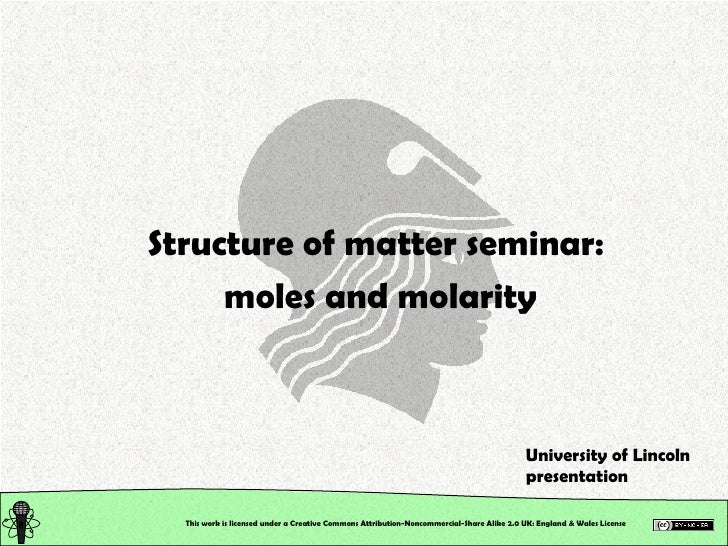 Chemical Structure: Structure of Matter: Seminar