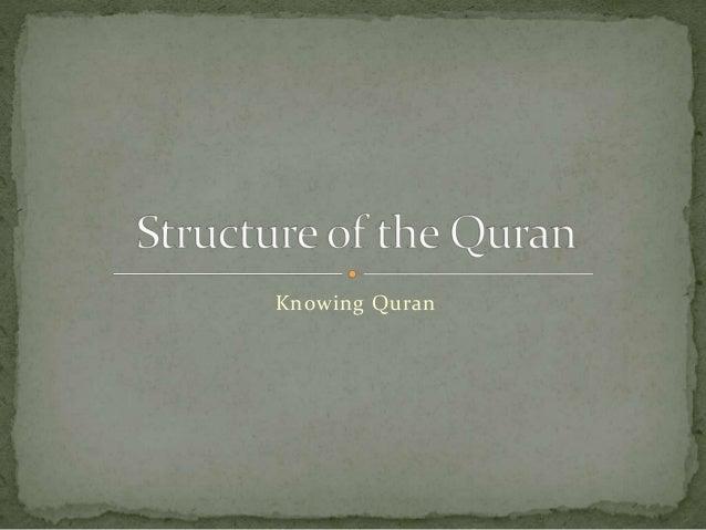 Knowing Quran