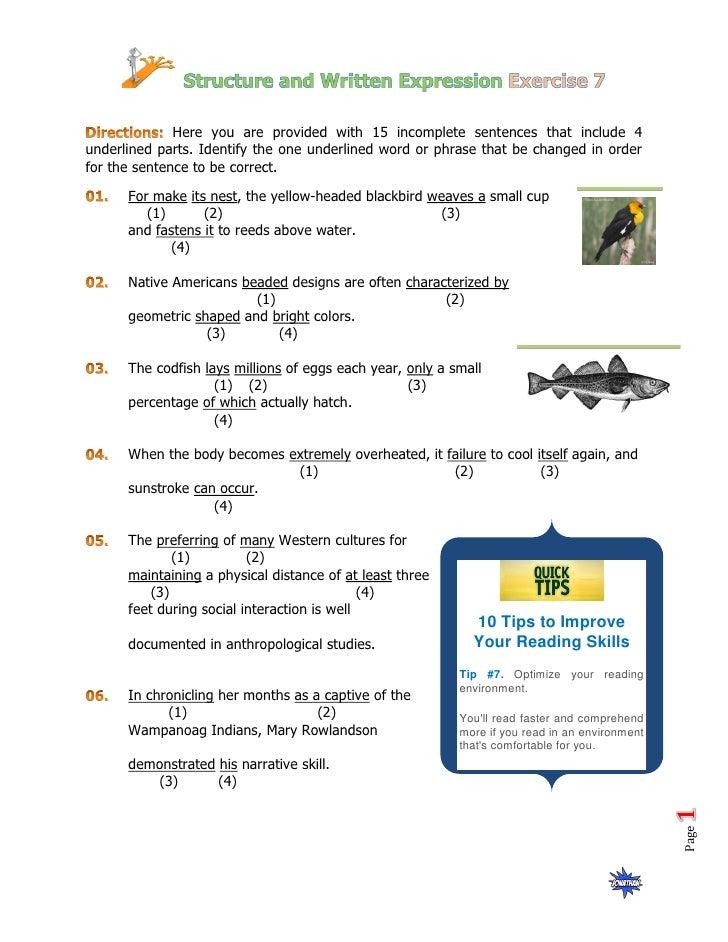 Structure Practice 7
