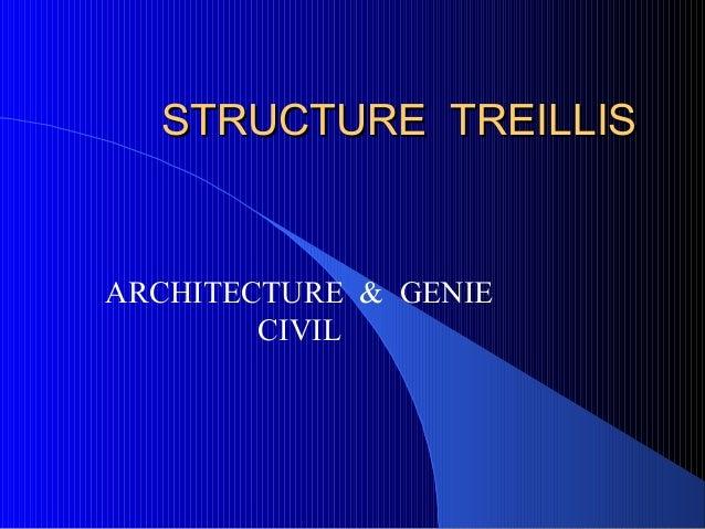 STRUCTURE TREILLISSTRUCTURE TREILLISARCHITECTURE & GENIECIVIL