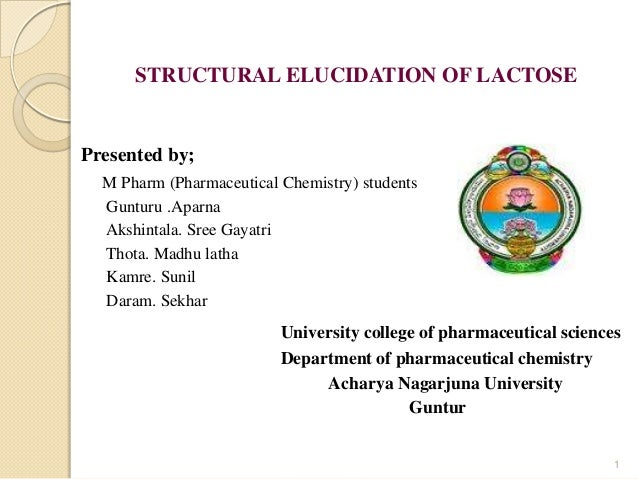 Strucural elucidaion lactose