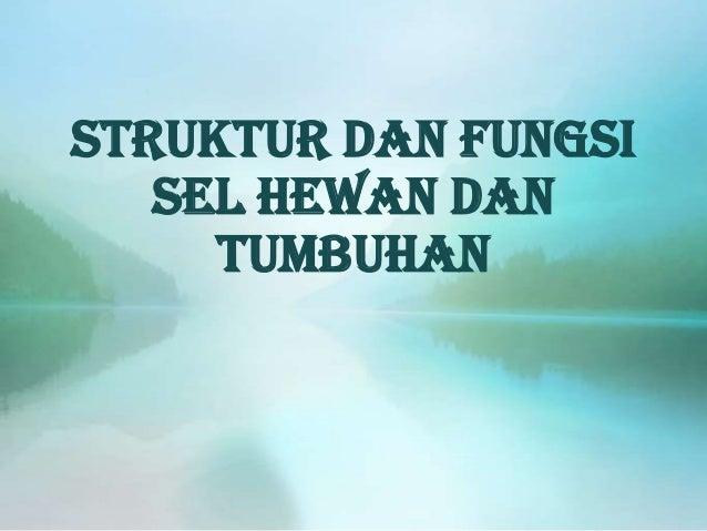 Struktur dan fungsi sel hewan dan tumbuhan