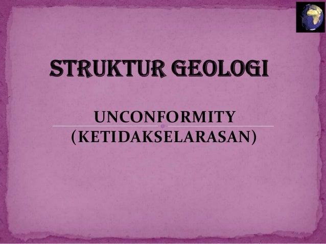 Struktur Geology Unconformity