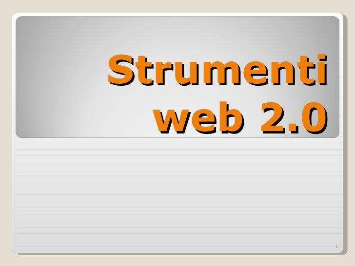 Strumenti web 2.0