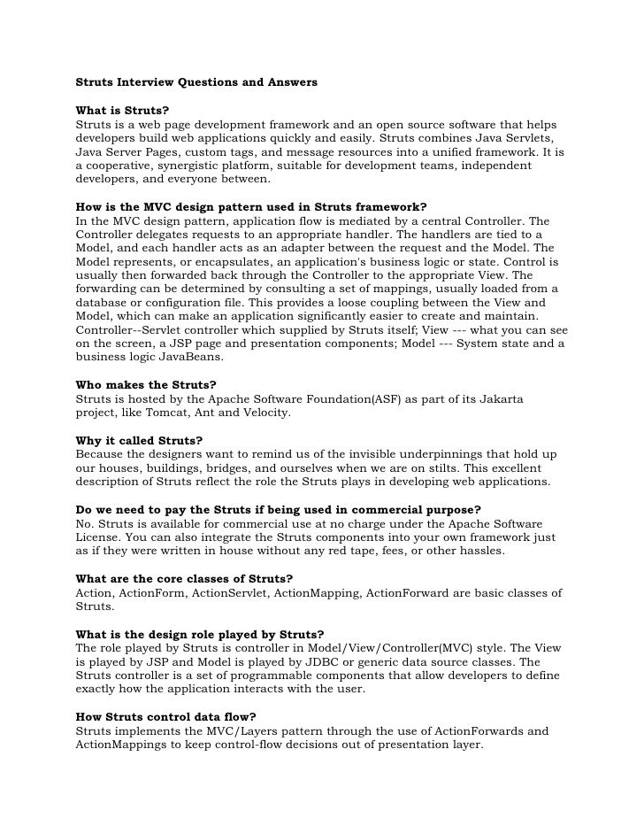 Struts Interview Questions