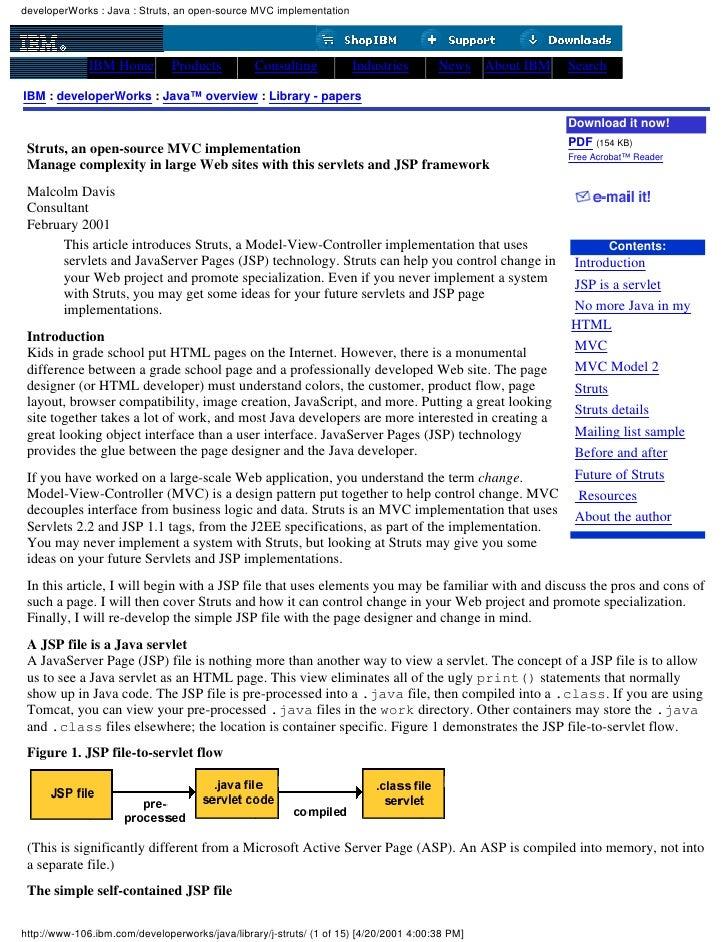 Struts   An Open Source Mvc Implementation