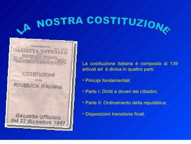 Struttura della costituzione italiana for Struttura politica italiana