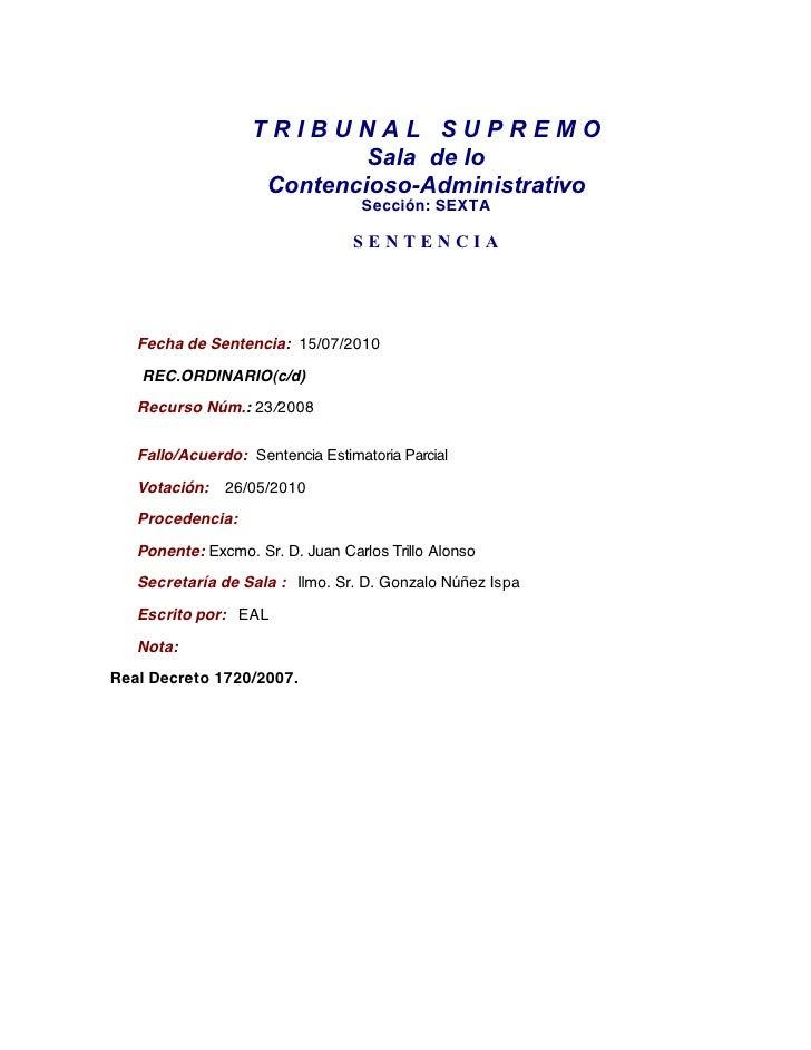 Sts 15 07_2010_nulidad_artículos_rd_1720_2007