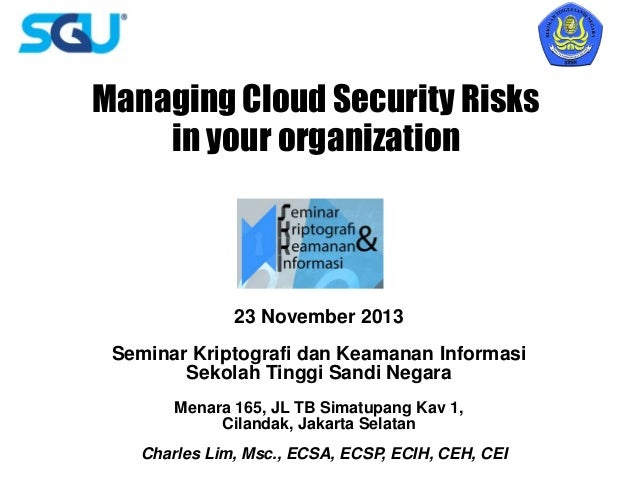 Managing Cloud Security Risks in Your Organization