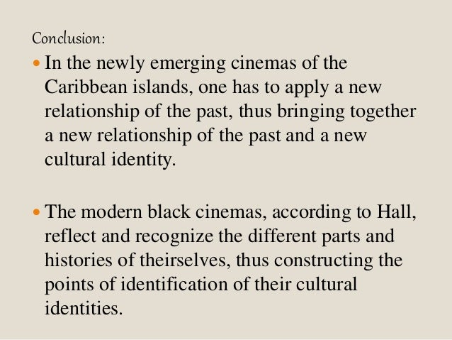 """stuart halls cultural identity and diaspora In his influential 1996 essay """"cultural identity and diaspora"""", hall presents two different definitions of cultural identity in the first definition, cultural identity is a a sort of collective 'one true self' which many people with a shared history and ancestry hold in common."""