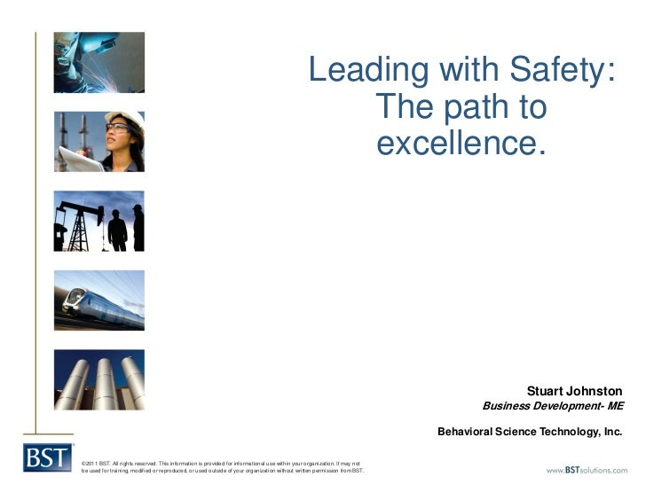 Stuart Johnston - Leading with Safety - the Path to Excellence