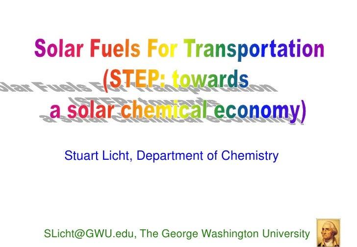 Licht - Solar Fuels for Transportation