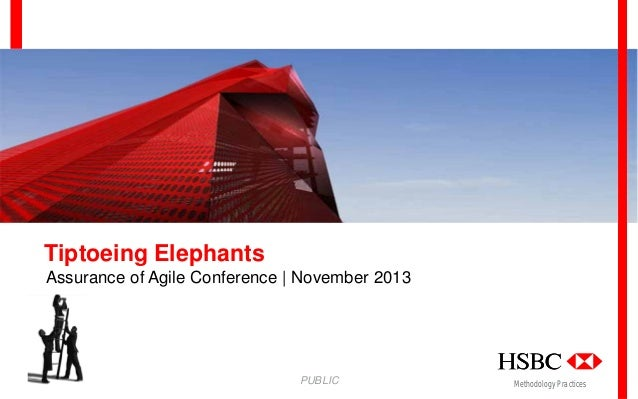 Tiptoeing Elephants Assurance of Agile Conference | November 2013  PUBLIC  Methodology Practices