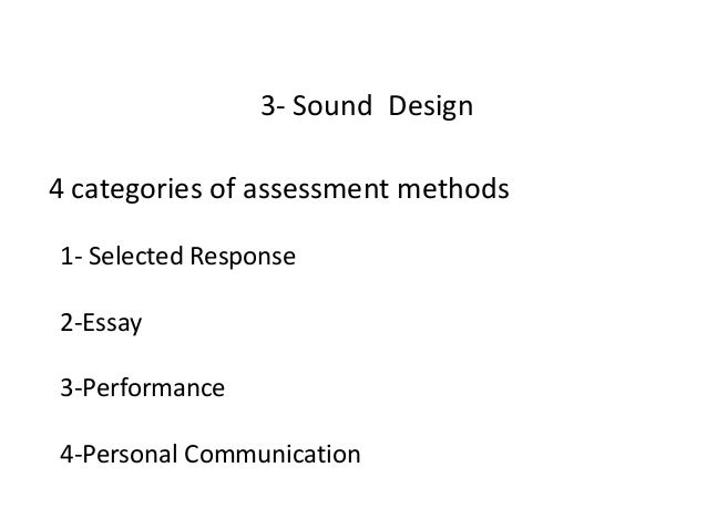 purpose of essay assessments
