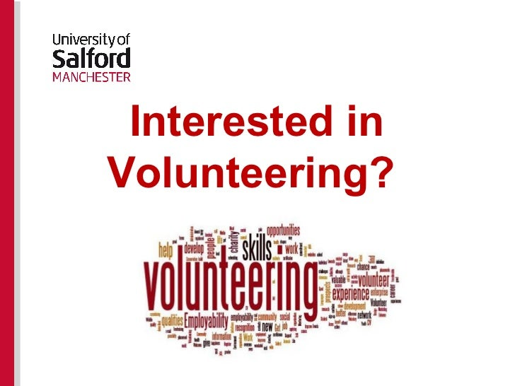 Interested inVolunteering?