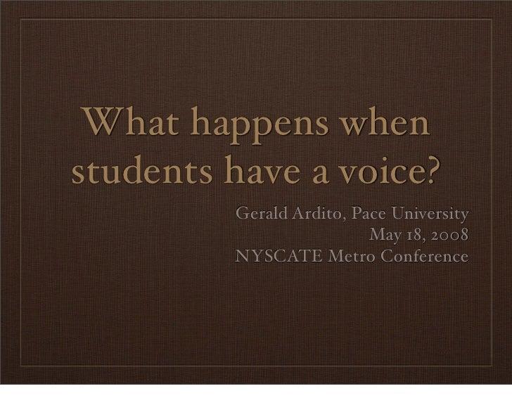 Student Voice Presentation
