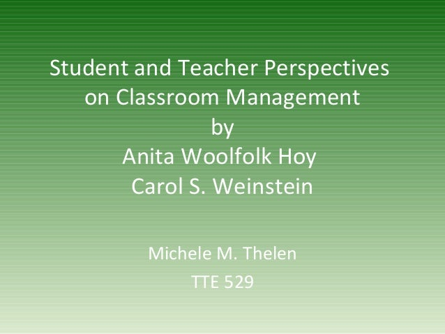 Student and teacher perspectives
