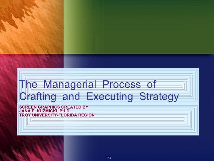 SCREEN GRAPHICS CREATED BY: JANA F. KUZMICKI, PH.D. TROY UNIVERSITY-FLORIDA REGION <ul><li>The  Managerial  Process  of  C...