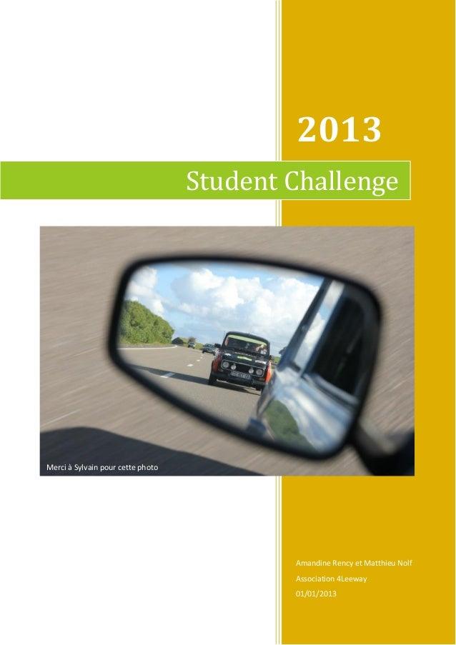 Student challenge 2013  - encore merci