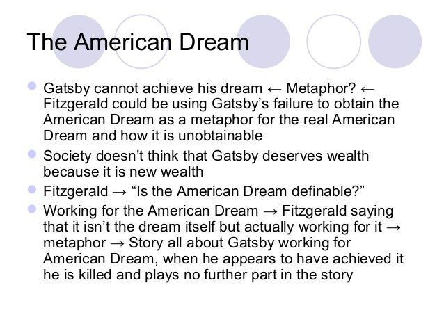 American dream great gatsby essay