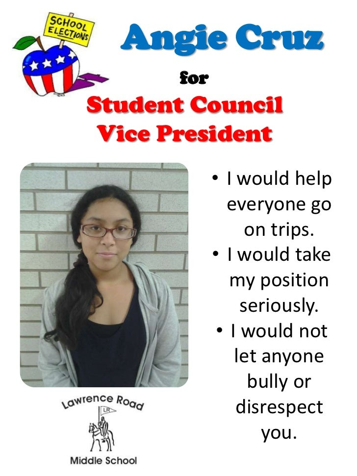 elementary school student council election speech