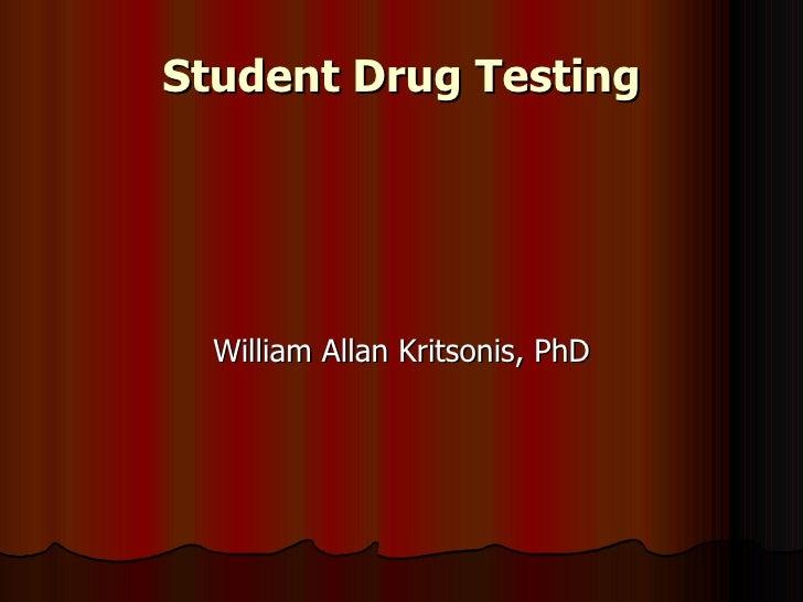 Student Drug Testing Ppt