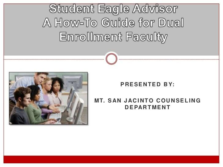 Student Eagle Advisor - How To Use