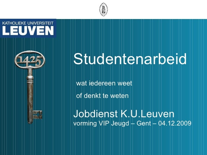 Informatiethema's: Studentenarbeid