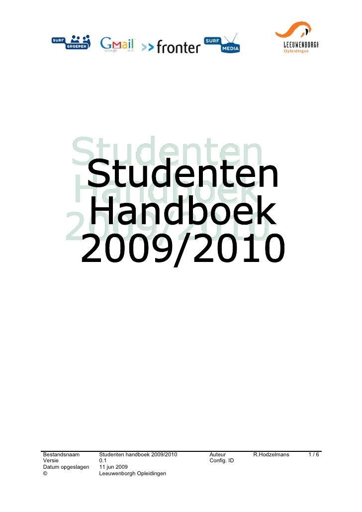 Studenten Handboek 2009 2010