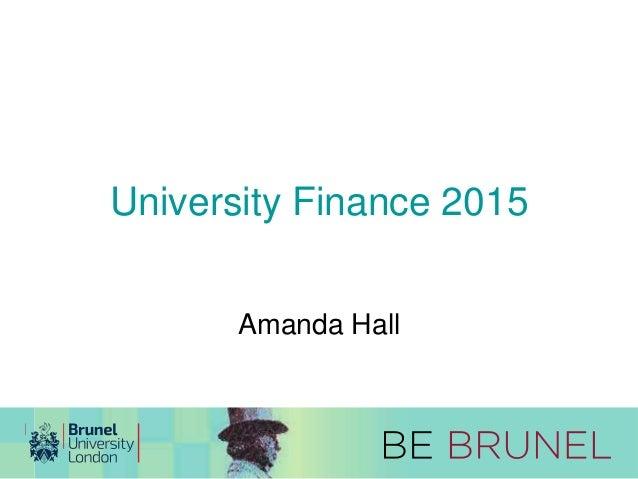 University Finance 2015  Amanda Hall