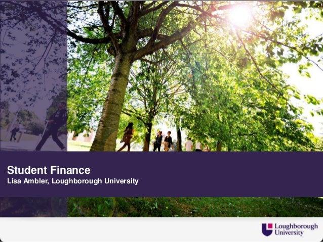 Student finance at university