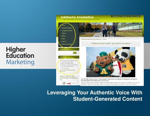 Leveraging Your Authentic Voice With Student- Generated Content Slide 1 Leveraging Your Authentic Voice With Student-Gener...