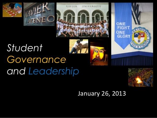 Student governance and leadership