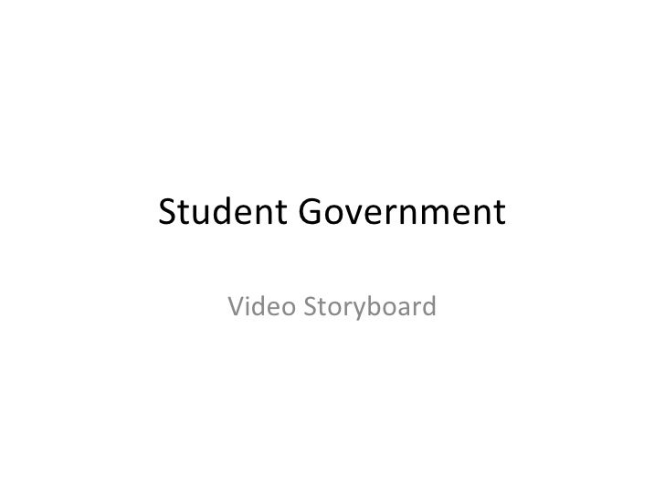 Student Government Video Storyboard