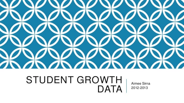 Student growth data
