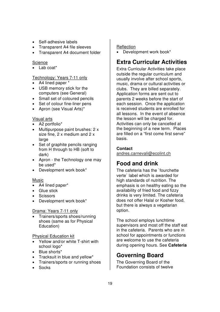 Curricular Activities Book Curricular Activities