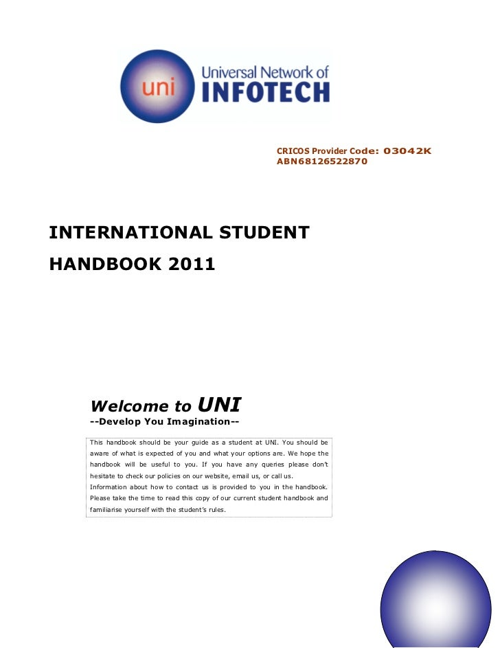 CRICOS Provider Code: 03042K                                                                 ABN68126522870INTERNATIONAL S...