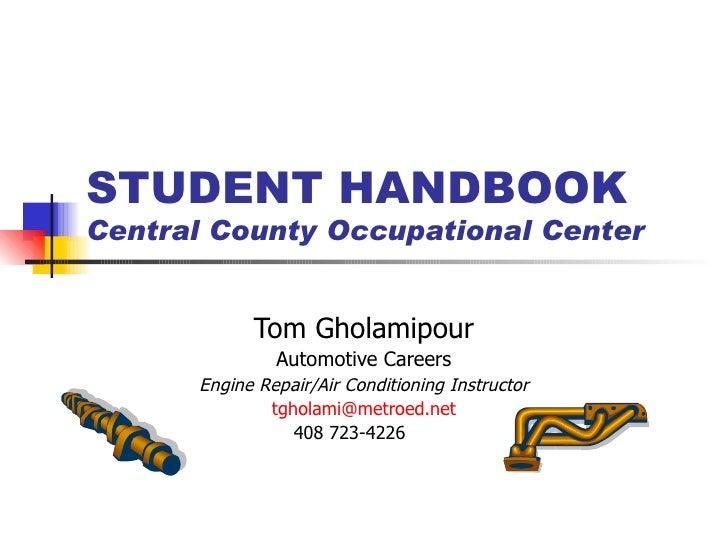 Student handbook power point
