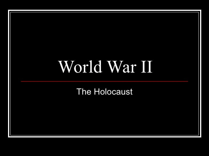 Student handout holocaust