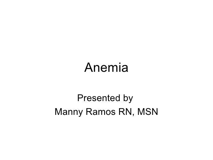 Anemia Heart Failure Talk (2005-11-02)