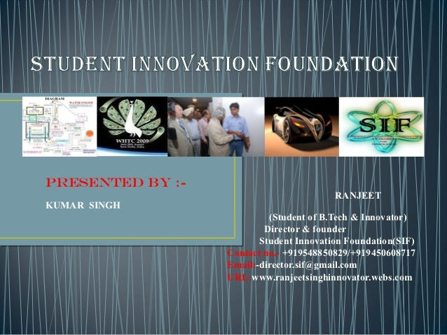 PRESENTED BY :-                                         RANJEETKUMAR SINGH                           (Student of B.Tech & ...