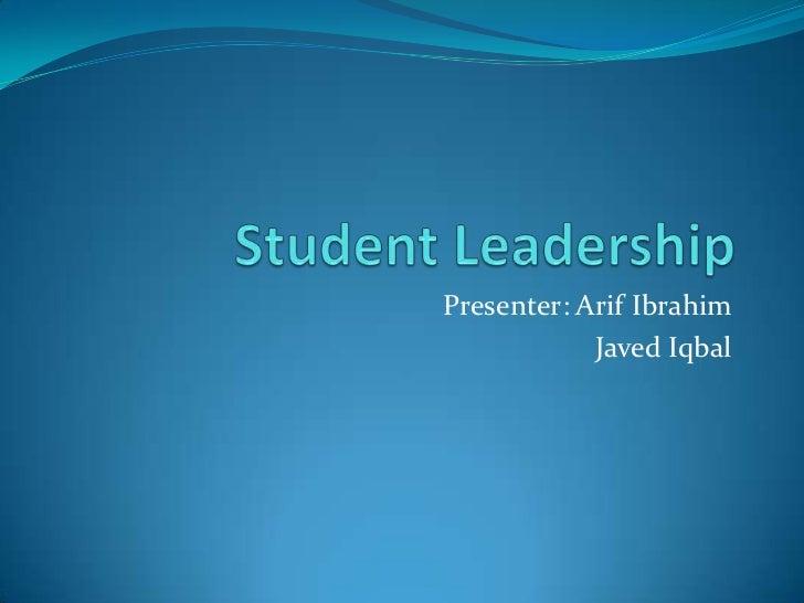 Student leadership1122