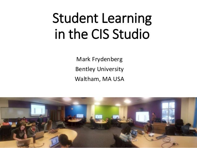 Student Learning in the CIS Studio